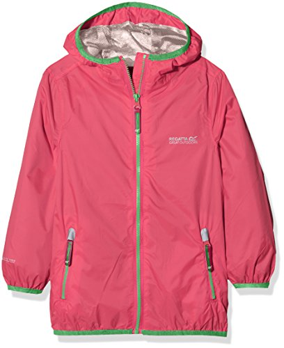 Regatta Kinder Hebel II, wasserdicht Shell Jacken S hot pink