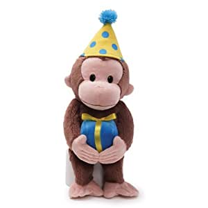 Curious George 14 inches birthday dress Plush (japan import)