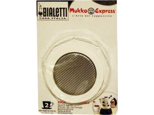 Bialetti - Spare Seal - Replacement Part Suitable for Mukka Express Cappuccino Coffee Makers - 2 Cups