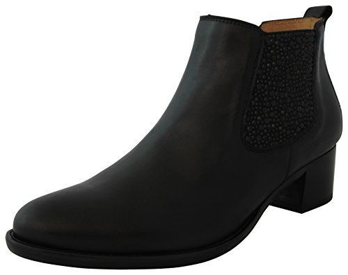 Gabor Shoes Fashion 35.690.2 Chaussures femme, Bottes, Boots, bottine, (Chelsea Boots) Cuir Black (Strass)
