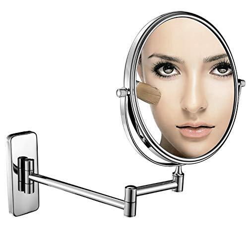 GuRun Doppel Wand Kosmetikspiegel, 7-Fach Vergrößerung und Normal, Ø 20cm, verchromte,M1406(8in,7x)
