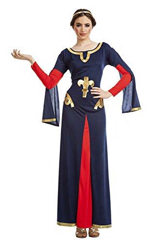 Imagen de disfraz medieval carta mujer talla xl tamaño adulto