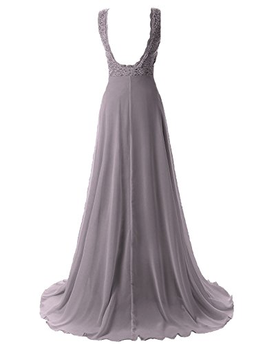MicBridal -  Vestito  - linea ad a - Donna Grigio
