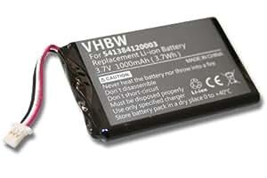 Batterie LI-ION 1000mAh pour NAVIGON 72 Easy, 72 Plus Live, Navigon 92, 92 plus, 92 premium remplace 541384120003, GTC39110BL08554, JS541384120003