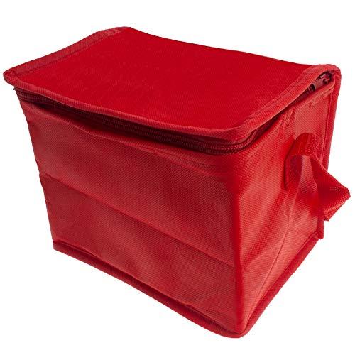 Smartfox Mini Kühltasche Kühlbox Isoliertasche Thermotasche mit Tragegurt Fassungsvolumen 3l in rot