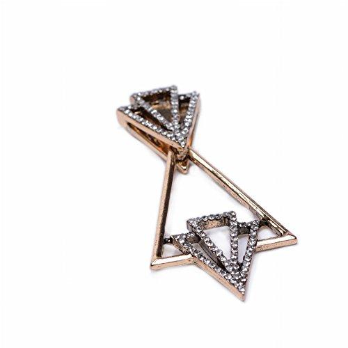 Beliebte Schmuck Geometrische Legierung Diamant Ohrringe Personalisierte Ohrringe Verkauf , Gold (Verkaufs-diamant-ohrringe)