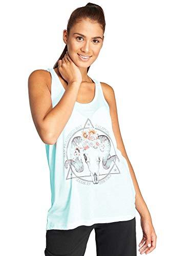 Brave Soul Damen T-Shirt Tank-Top cool Aufdruck Motiv Steinbock Widder Blume Ram (Grau Meliert, M) -