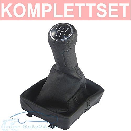 Preisvergleich Produktbild L&P A255 Schaltsack Schaltmanschette + Schaltknauf + Rahmen 5 Gang Komplettset Plug & Play Ersatzteil für 6Q1711113