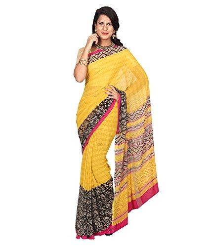 VINTAGE Girls cotton saree(VINTAGE O35_multi colour_Freesize)
