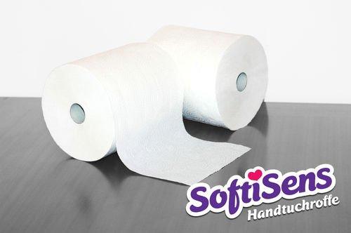 12 x Handtuchrollen 130m, 21 cm breit, 2-lagig für Autocut Spender
