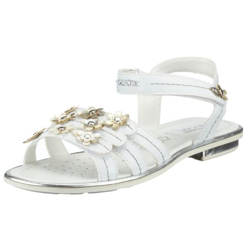 Geox J Sandal Giglio J01E2G, Sandales mode fille weiss (whtC1000)