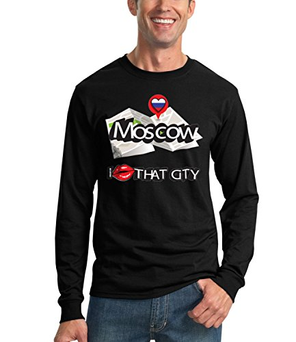Billion Group | Moscow I Love | City Collection | Men's Unisex Sweatshirt Nero Small