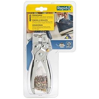 Rapid Ösenzange RP05 Set mit Lochstanzfunktion und 100 Ösen 4mm