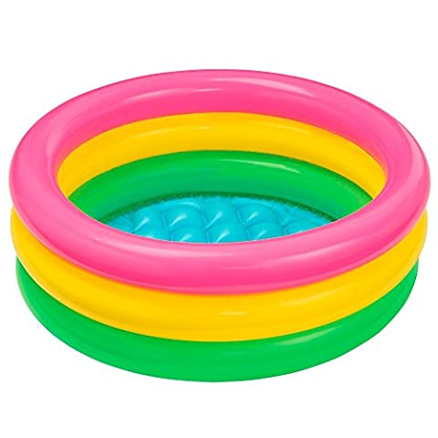 Intex 57402NP - Sunset Glow Baby Pool, 3-Ring, Durchmesser 61 x 22 cm
