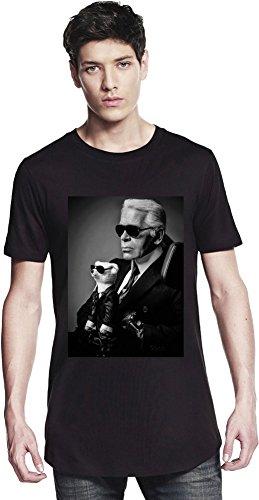 Preisvergleich Produktbild Karl Lagerfeld Fashion Designer Portrait Long T-shirt Medium