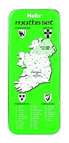 Helix B09000 Irish Designed Tin Box Maths Set