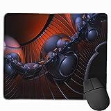 Gaming Mauspad 3d Abstract Shapes Lines Spheres Assemblies Rubber Mousepad (30 x 25 cm)   Fransenfreie Ränder   Rutschfest