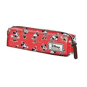 Minnie Mouse- Estuche portatodo Cuadrado, Color Rojo, 22 cm (Karactermanía 33591)