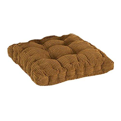 Topteck Office Decor Komfortable Stuhlkissen für Rückenschmerzen und Ischiasentlastung Kaffee Platz (Dekorative Kissen-abdeckung Brown)