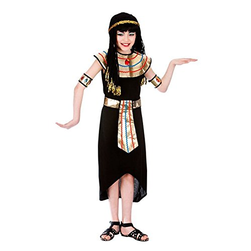 Egyptian Queen (11-13) Kids Fancy Dress Historical Costume (Cleopatra Dress Up Kostüm)