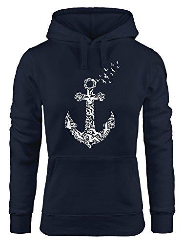 hoodie-damen-anker-vogel-anchor-birds-sweatshirt-kapuze-kapuzenpullover-moonworks-navy-l