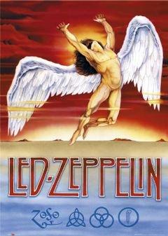 ELITE LED Zeppelin Swan Song groß Musik Poster 61x 91,5cm