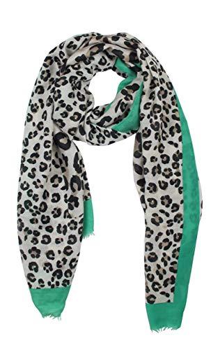 Vanessa & Melissa Leichter sommerlicher Damen Schal in frischen Farben in Leopard Muster Leopard-print-poncho