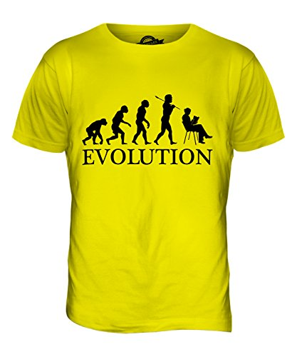 CandyMix Frau Lesung Leson Evolution Des Menschen Herren T Shirt Zitronengelb