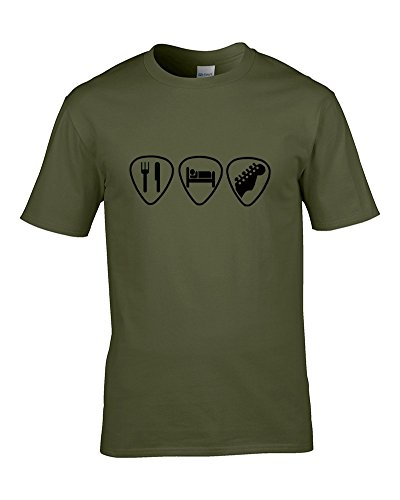 Ice-Tees -  T-shirt - Colletto crew  - Maniche corte - Uomo Green Medium