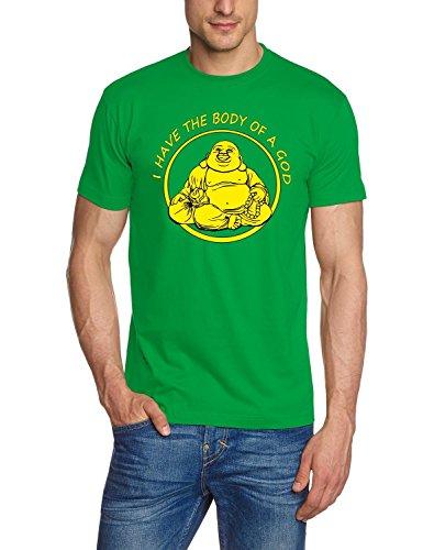 I HAVE THE BODY OF A GOD ! Buddha T-SHIRT, GREEN, GR.XL (Grünen Buddha T-shirt)