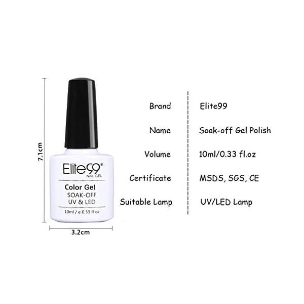 Elite99 Esmaltes Semipermanentes de Uñas en Gel UV LED, 6pcs Kit de Esmaltes de Uñas de Color Nude y Brillo Glitter 10ml…