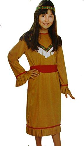 Kaufland Warenhandel GmbH & Co. KG Kinder-Kostüm Indianerin, für Mädchen, 3-teilig, Größe ()