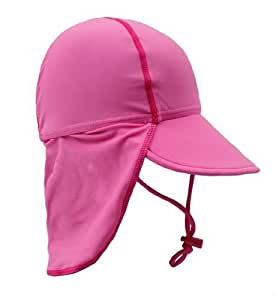 Bright Bots Australian Sun Protection UPF50+ Girls Legionnaires Sun Hat Pink size Medium (approx 12-18 months)