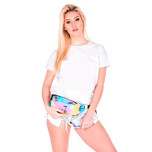 BZLine® Unisex Sport Wandern Running Gürtel Taille Tasche Pouch Zipper Fanny Pack Taschen D