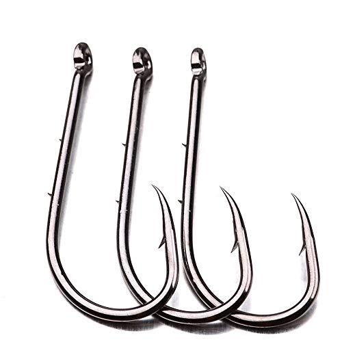 EXQUILEG Baitholder Hooks - 10 Einzelhaken,Angelhaken zum Angeln auf Forellen & Barsche,Haken für Karpfen, Boiliehaken (#5)