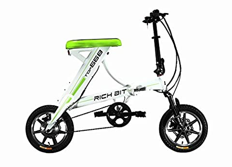 Rich Bit® New Updated RT-688 36V*250W Electric Bike City Hybrid Road Bike Bicycle Cycling Watertight Frame Inside Li-on Battery Quality Alluminum Alloy Folding Frame Suspension Fork Tiny Small 14inch Wheel