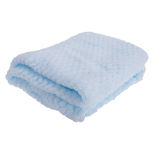 Copertina super morbida in tessuto tipo peluche per neonati (75 x 90cm) (azzurro cielo)