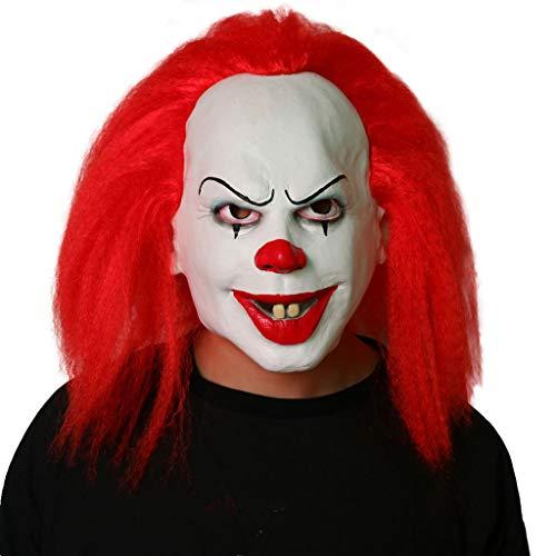 Uus Redhead Clown Maske, Halloween Party heikle Scary Requisiten Horror Latex Vollgesichts Kopfbedeckungen (freie Größe)
