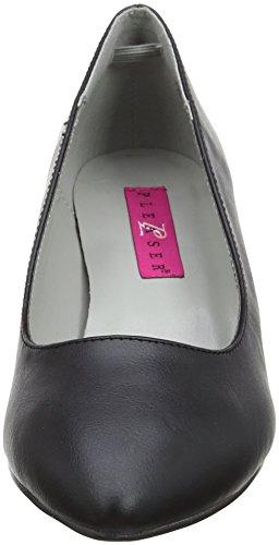 Pleaser Damen Kitten-01 Pumps Blk Faux Leather