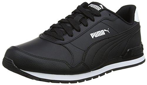 Puma Unisex-Erwachsene St Runner V2 Full L Sneaker, Schwarz Black, 46 EU (Leder 46 Schwarz)