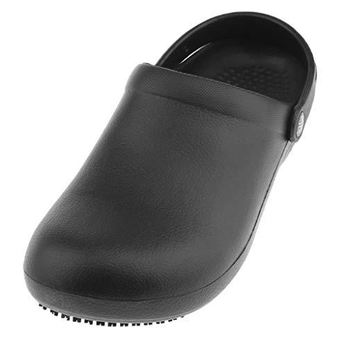 B Baosity Zoccoli Pantofole Traspirante Resistente Acqua Confortevole Per Cucina Ambienti Lavoro - Nero, EU42-43