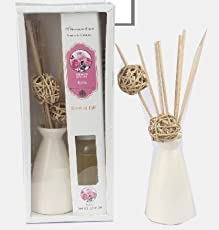 Scented Season Reed StickS Ceramc Diffuser gift set with 50ml oil ROSE