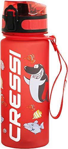 Cressi Water Bottle H20 Frosted, Borraccia Sportiva Unisex, Rosso, 400 ml