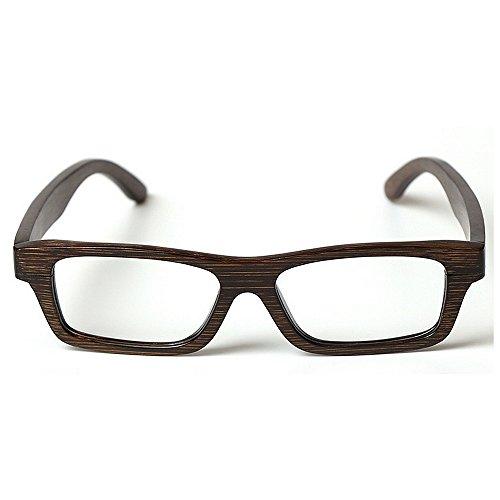 Yiph-Sunglass Sonnenbrillen Mode Klassische handgefertigte Holz Männer Brillengestell Bambus Eyewear Rahmen künstlerische Plain Brillengestell Federscharnier Freizeit Brillengestell