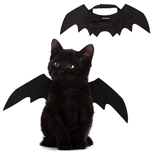Gizhome Halloween-Kostüm für Hunde und Katzen, Fledermaus mit Flügeln, für Cosplay, Halloween-Dekoration