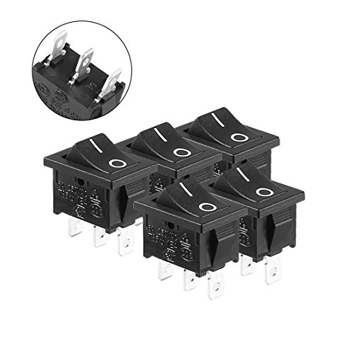ZCHXD 5pcs AC 6A/250V 10A/125V On/Off 2 Positions SPDT Rocker Switch Latching - Zwei Rocker Switches
