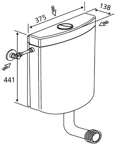 Marley Spülkasten Quarz 2-Mengentechnik 3,5 und 6/9 Liter weiß 304915