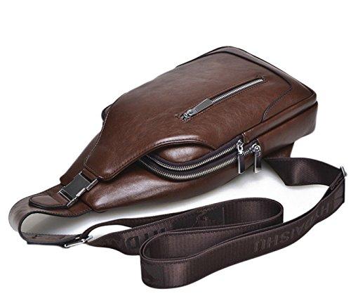 Breasts Herren Brusttaschen Casual Herren Taschen Outdoor Sports Brust Schultern Messenger Bags Herren Rucksäcke Brown
