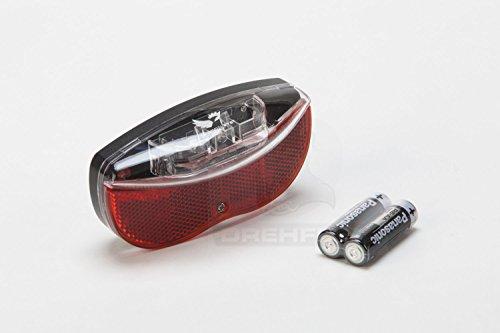 Preisvergleich Produktbild Drehflex® LED Rückleuchte / Reflektor für den Gepäckträger,  zum Anschrauben. Batterie betrieben