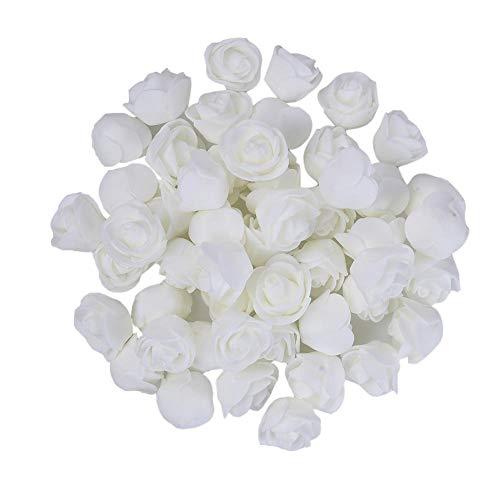 e, Künstliche Blumen Köpfe für Hochzeitsblumen Zubehör Machen Braut Haarspangen Stirnbänder Kleid (50 stücke) ()